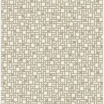 Picture of Bento Taupe Geometric Wallpaper