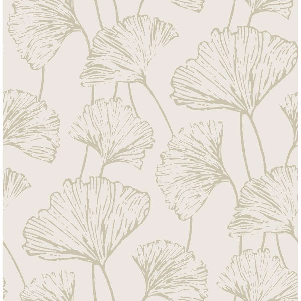 Picture of Reverie Grey Ginkgo Wallpaper