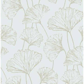 Picture of Reverie Seafoam Ginkgo Wallpaper