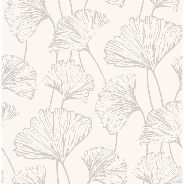 Picture of Reverie Silver Ginkgo Wallpaper