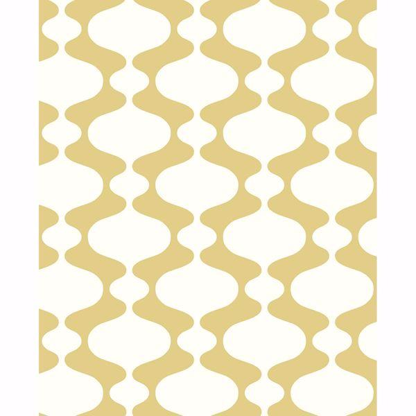Picture of Ashbury Yellow Retro Wallpaper
