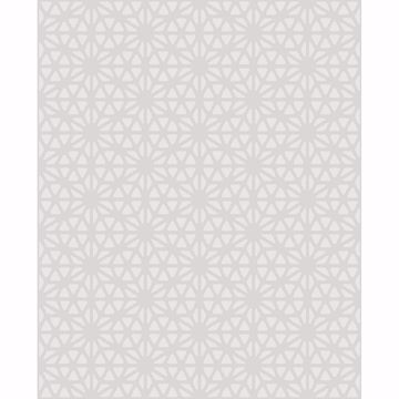 Picture of Prism White Geometric Wallpaper