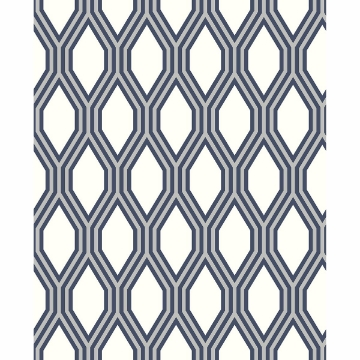 Picture of Honeycomb Navy Geometric Wallpaper