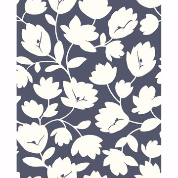 Picture of Astrid Navy Floral Wallpaper