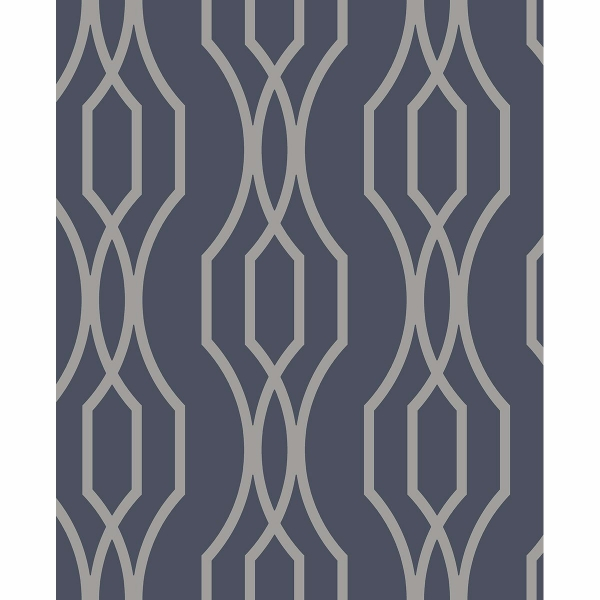 Picture of Coventry Blue Trellis Wallpaper