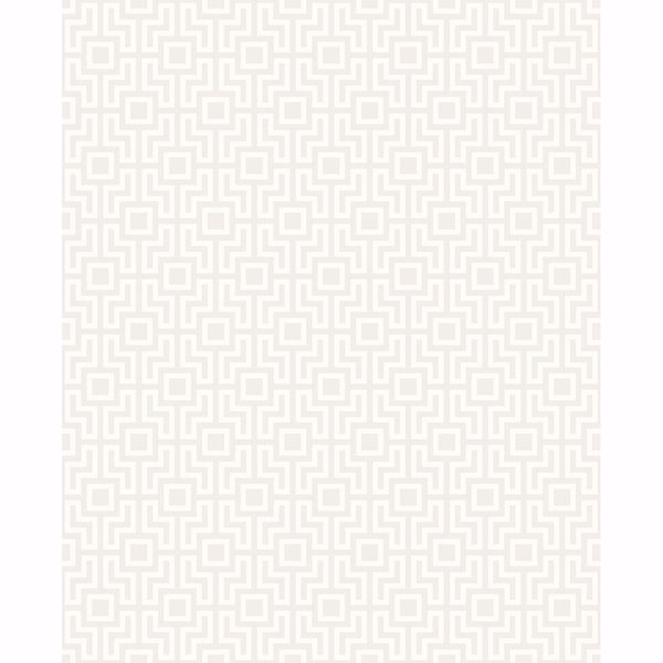 Picture of Boxwood Silver Geometric Wallpaper