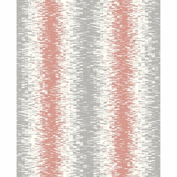 Picture of Quake Coral Abstract Stripe Wallpaper