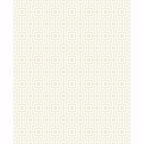 Picture of Boxwood Neutral Geometric Wallpaper