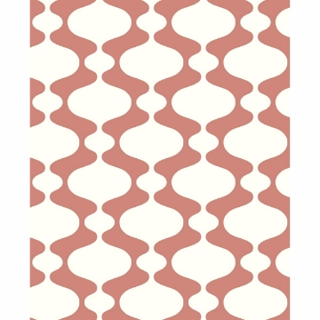Picture of Ashbury Coral Retro Wallpaper