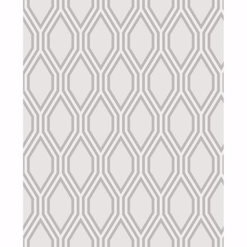 Picture of Honeycomb Grey Geometric Wallpaper