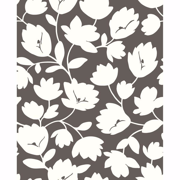 Picture of Astrid Chocolate Floral Wallpaper