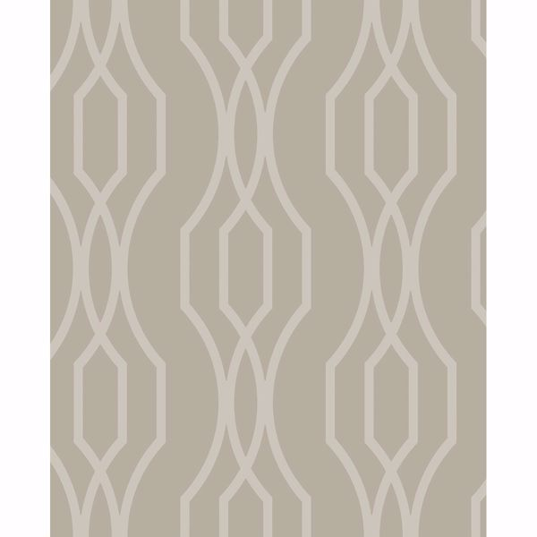 Picture of Coventry Taupe Trellis Wallpaper