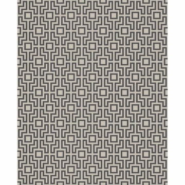Picture of Boxwood Black Geometric Wallpaper