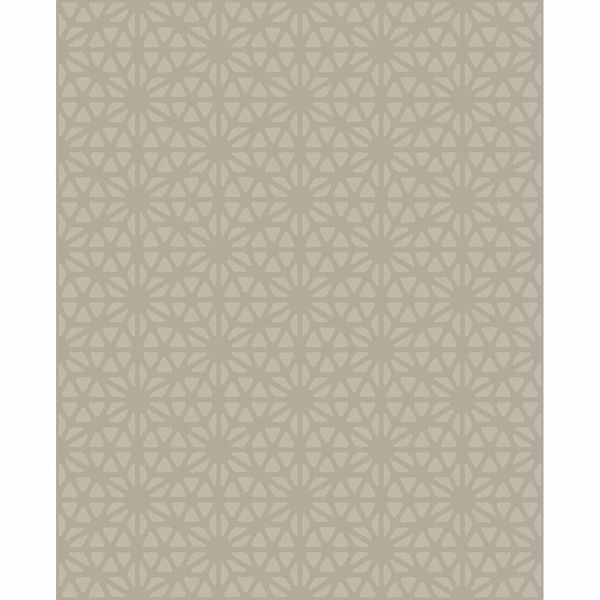 Picture of Prism Taupe Geometric Wallpaper