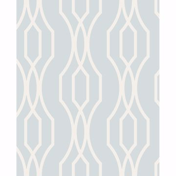 Picture of Coventry Light Blue Trellis Wallpaper