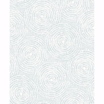 Picture of Ripple Light Blue Shibori Wallpaper