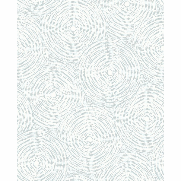 Picture of Ripple Light Blue Shibori Wallpaper