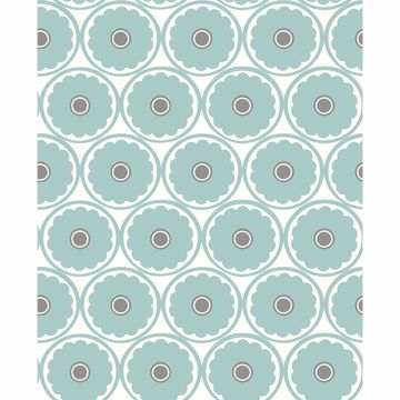 Picture of Buttercup Turquoise Flower Wallpaper