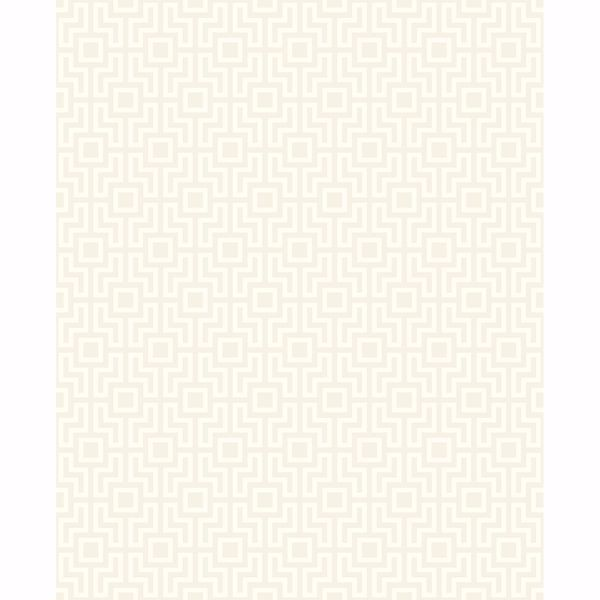 Picture of Boxwood Platinum Geometric Wallpaper