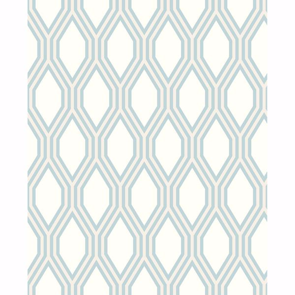 Picture of Honeycomb Light Blue Geometric Wallpaper