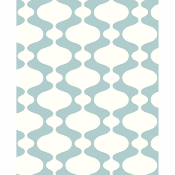 Picture of Ashbury Turquoise Retro Wallpaper