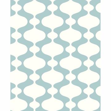 Picture of Ashbury Turquoise Retro Wallpaper