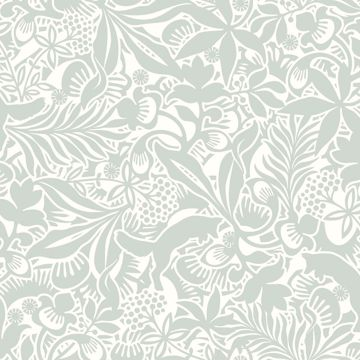 Picture of Lummig Fox Seafoam Botanical Wallpaper