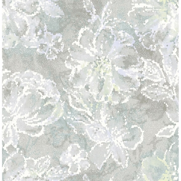 Picture of Allure Seafoam Floral Wallpaper