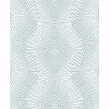Picture of Feliz Seafoam Beaded Ogee Wallpaper