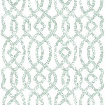 Picture of Ethereal Sea Green Trellis Wallpaper