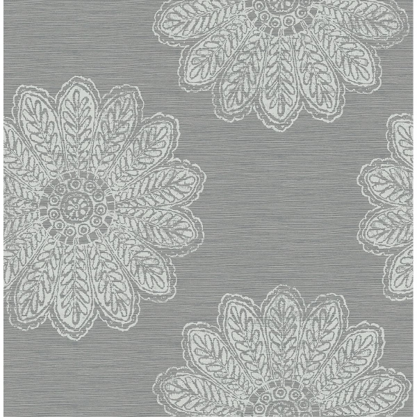 Picture of Sol Slate Medallion Wallpaper