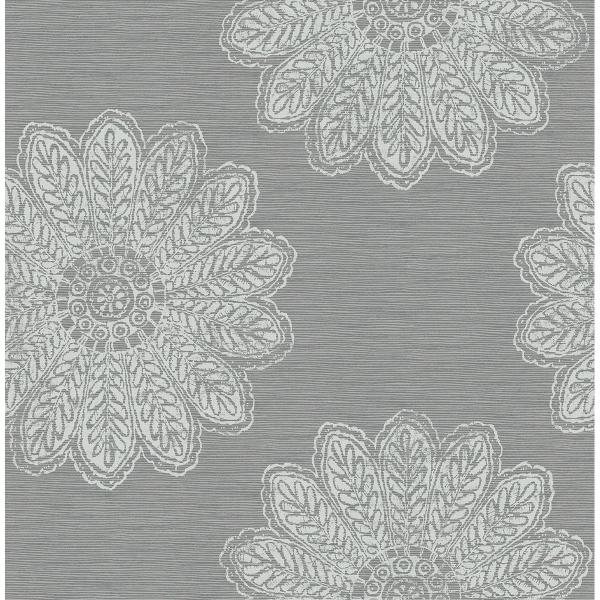 Picture of Sol Slate Medallion Wallpaper