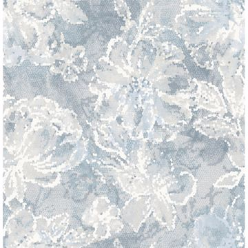 Picture of Allure Blue Floral Wallpaper