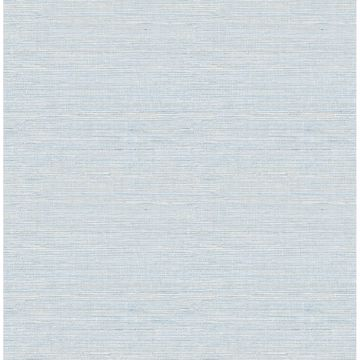 Picture of Lilt Blue Faux Grasscloth Wallpaper