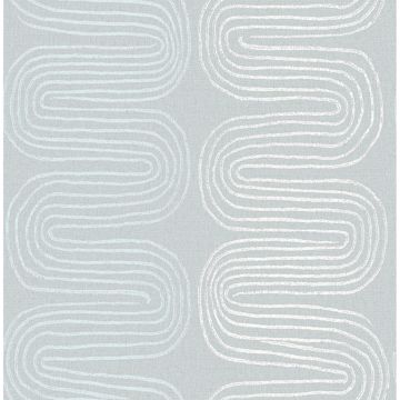 Picture of Zephyr Light Blue Abstract Stripe Wallpaper