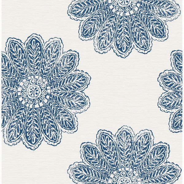 Picture of Sol Indigo Medallion Wallpaper