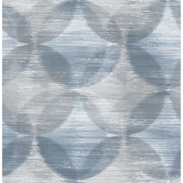 Picture of Alchemy Blue Geometric Wallpaper