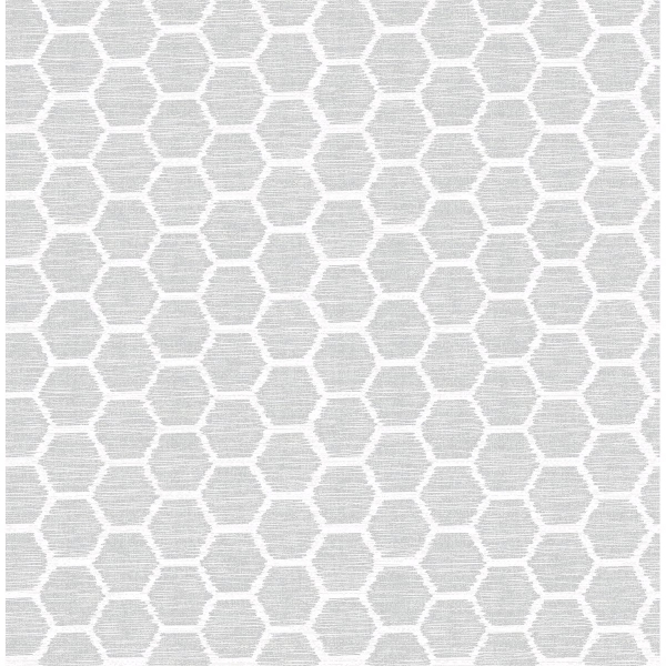 Picture of Aura Grey Honeycomb Wallpaper