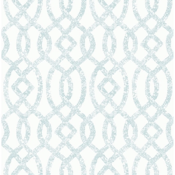 Picture of Ethereal Sky Blue Trellis Wallpaper