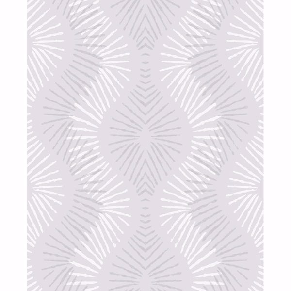 Picture of Feliz Silver Beaded Ogee Wallpaper