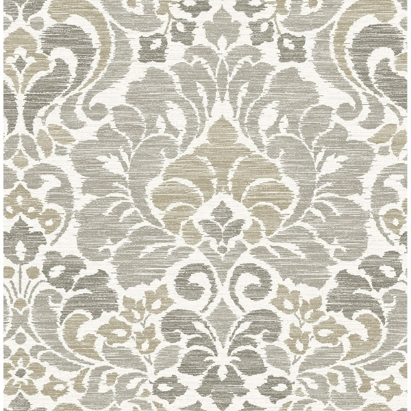 Picture of Garden of Eden Taupe Damask Wallpaper