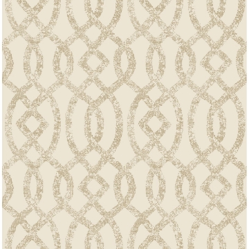 Picture of Ethereal Bronze Trellis Wallpaper