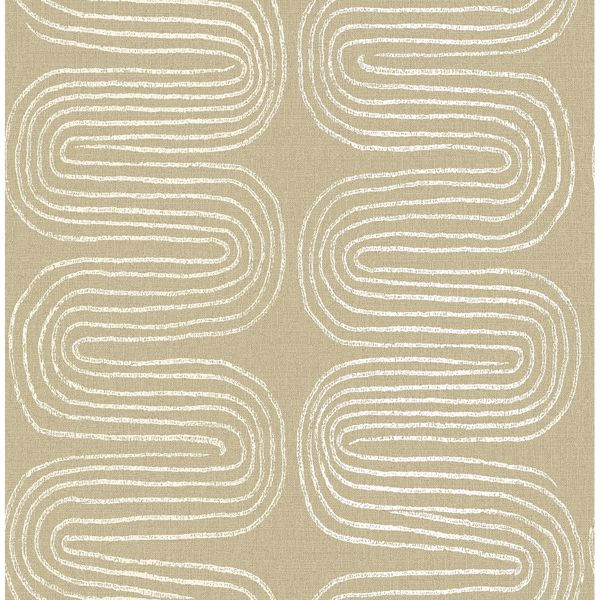 Picture of Zephyr Honey Abstract Stripe Wallpaper