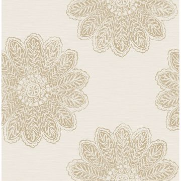 Picture of Sol Light Brown Medallion Wallpaper