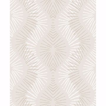 Picture of Feliz Platinum Beaded Ogee Wallpaper