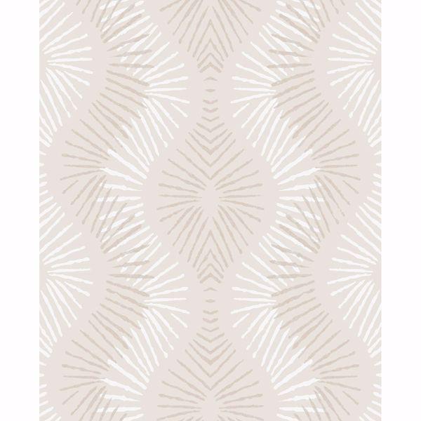 Picture of Feliz Platinum Beaded Ogee Wallpaper