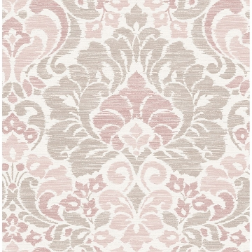 Picture of Garden of Eden Pink Damask Wallpaper