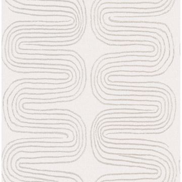 Picture of Zephyr Grey Abstract Stripe Wallpaper