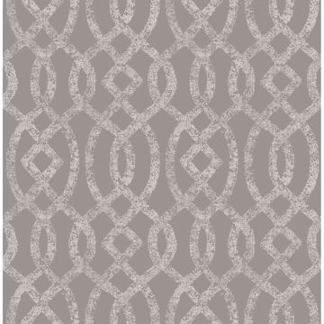 Picture of Ethereal Grey Trellis Wallpaper