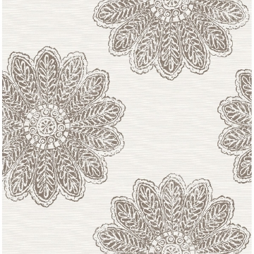 Picture of Sol Espresso Medallion Wallpaper